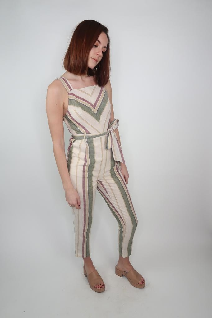 Blu Pepper Summer stripe jumpsuit