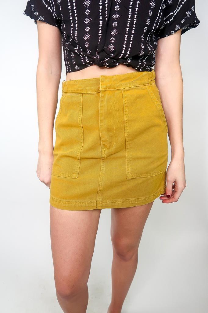 Blu Pepper Jean Skirt