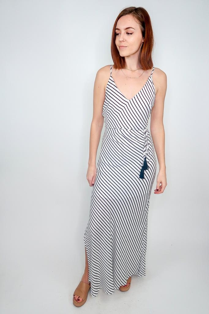 Aakaa Stripe Maxi Dress