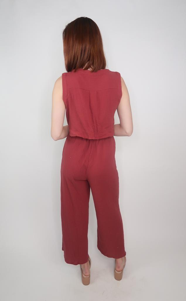 Cozy Casual Open Back Jumpsuit
