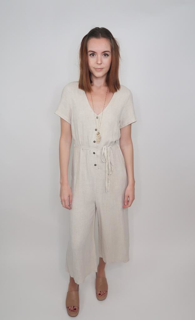 Grade & Gather Writing Fairytales Linen Jumpsuit