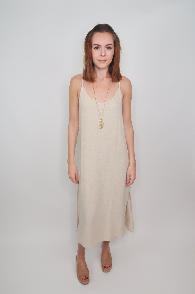 Grade & Gather On Fire Long Slit Dress