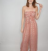 Loveriche Printed Strapless Jumpsuit