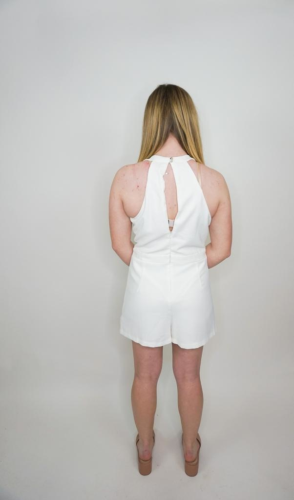She + Sky Eager Believer Romper