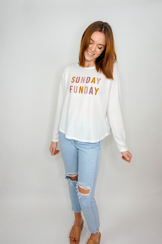Sadie & Sage Sunday Funday Graphic Sweatshirt