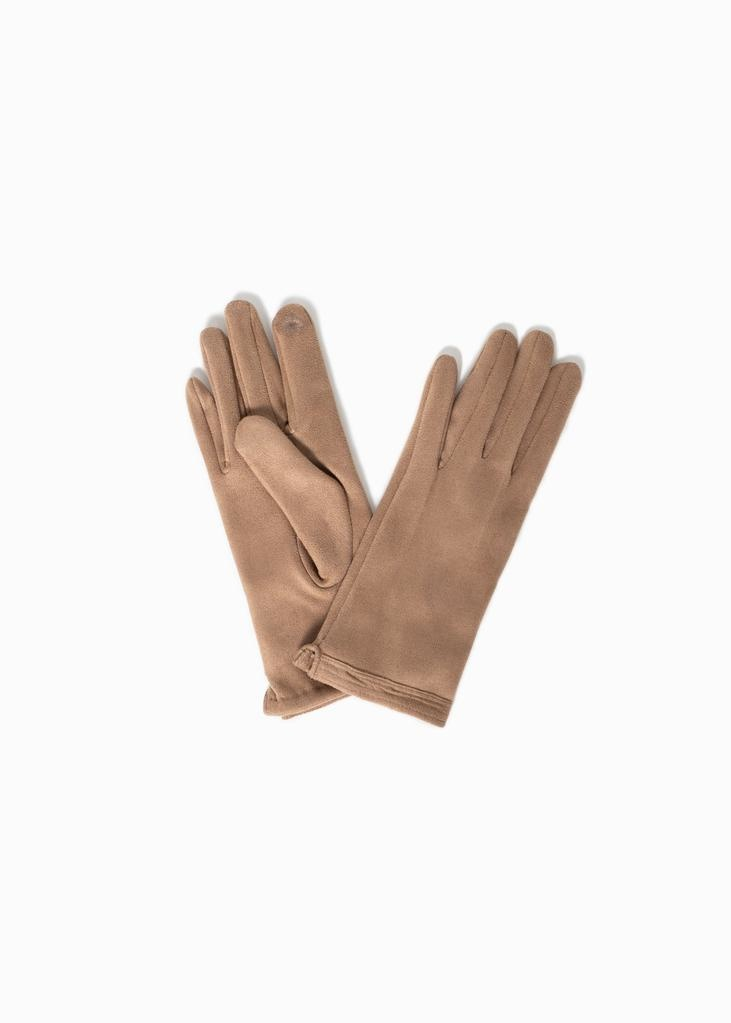 Look by M Stitch Point Suede Gloves