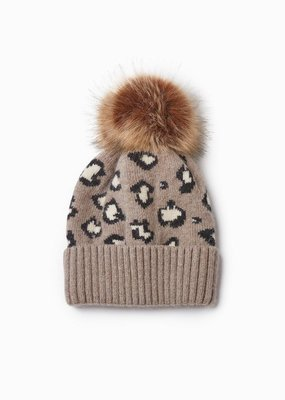 Look by M Cashmere Leopard Print Hat
