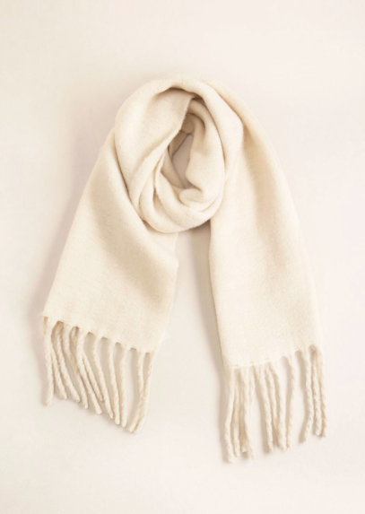 Look by M Solid Scarf With Chunky Fringe