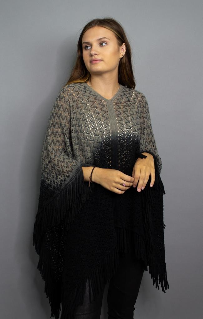 Angie Hold On Knit Poncho