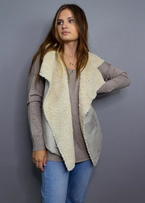 Angie Everything Beautiful Shearling Lined Vest