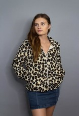 Z Supply The Leopard Sherpa Crop Jacket