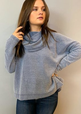 Z Supply The Fleece Scallop Cowl Sweater