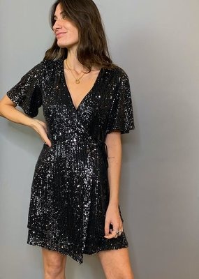 She + Sky Boogie Nights Wrap Dress