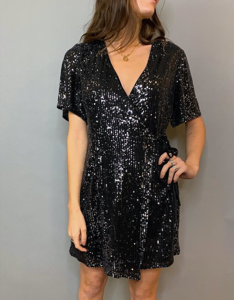 She + Sky Boogie Nights Wrap Dress