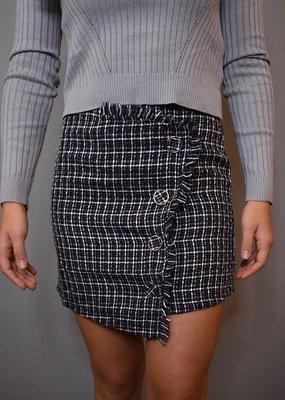 She + Sky Woven Wrap Mini Skirt