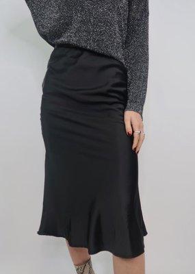 She + Sky Satin Cerce Midi Skirt