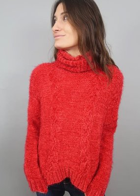 Jack BBD Eyelash Kisses Cable Knit Sweater