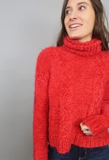 Jack BBD Eyelash Kisses Cable Knit Sweater