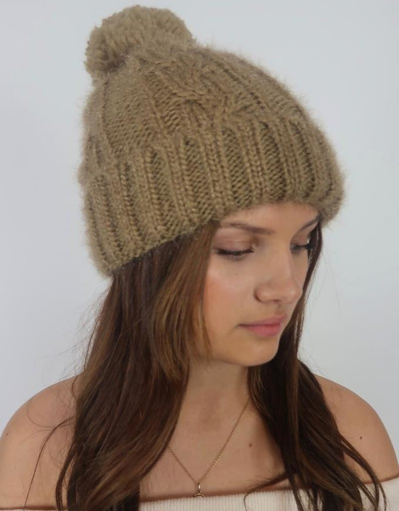 Co Co International Corp. Dreamer Cable Knit Beanie Hat