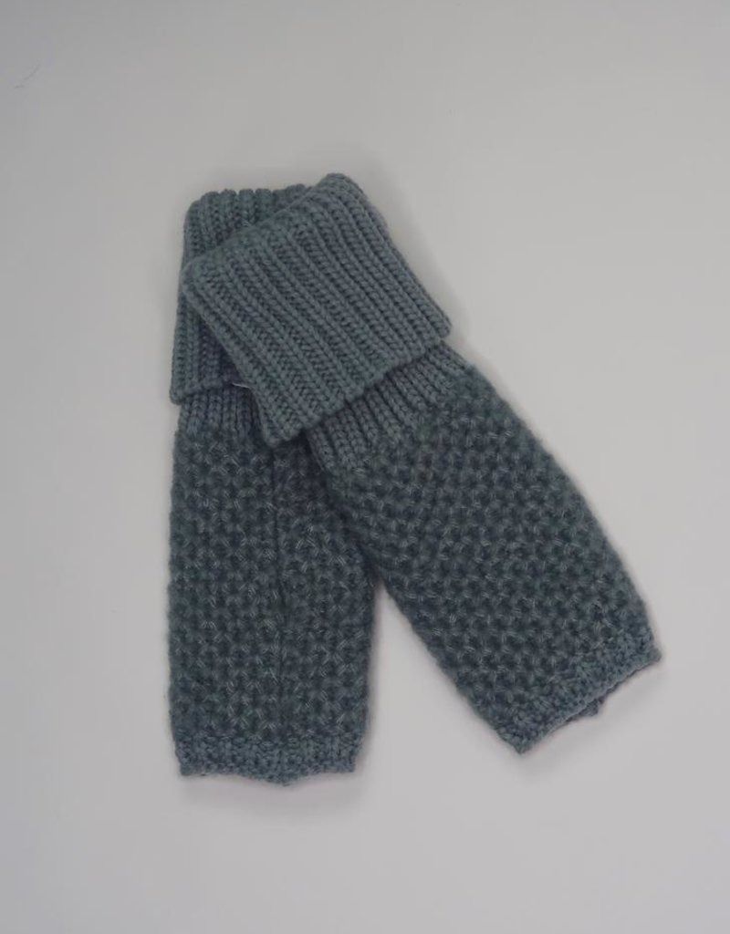 Look by M Cashmere Blend Chunky Knit Fingerless Gloves