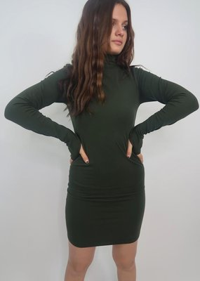 M Rena Act Like You Know Me Mockneck Seamless Dress