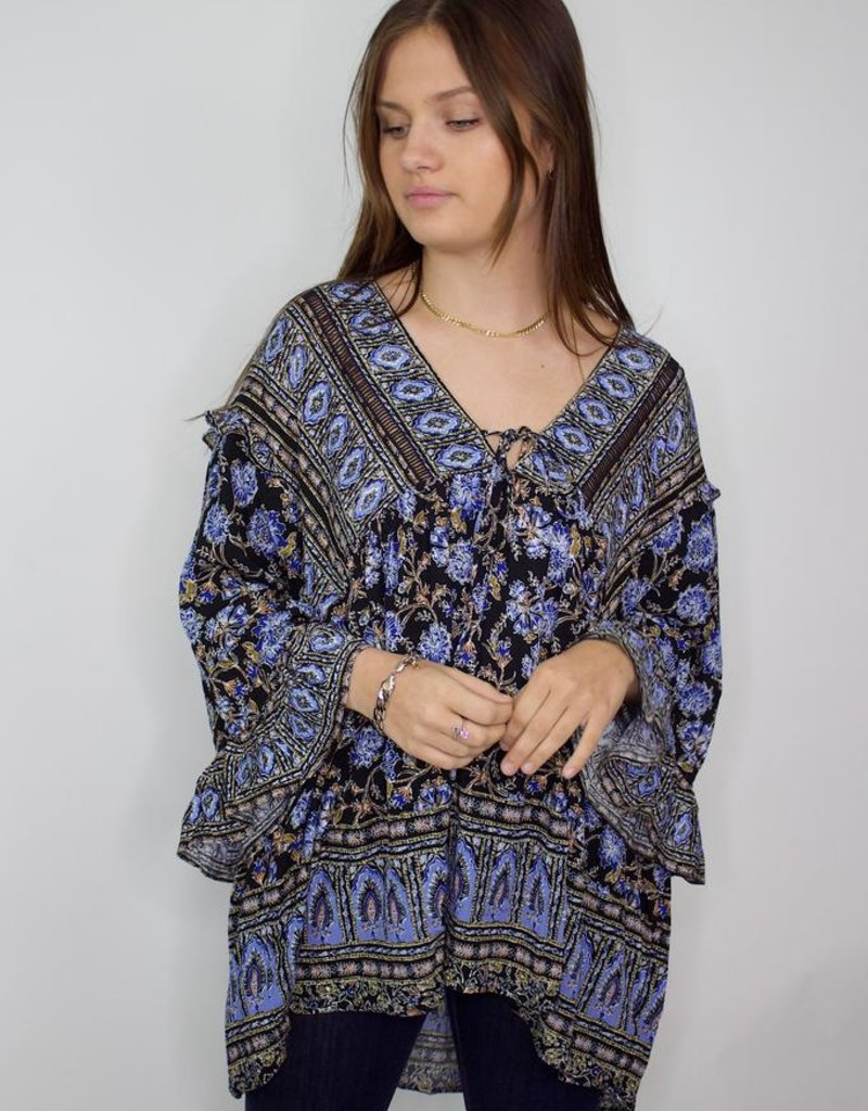 Free People Moonlight Dance Printed Tunic