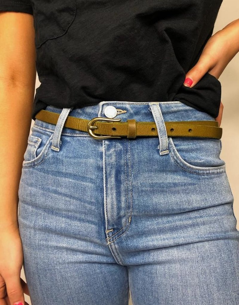 Most Wanted Olivia Skinny Leather Belt