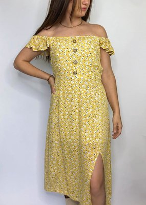 Hem & Thread She's So High Midi Dress