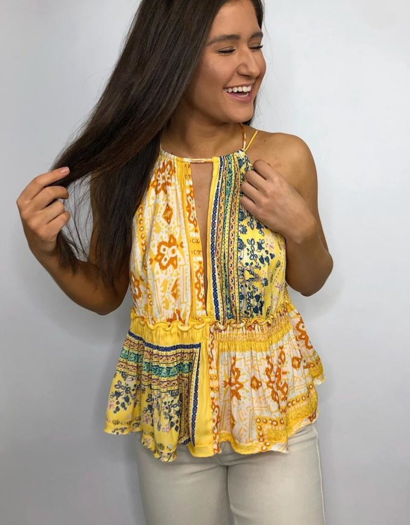 Free People Bellini Patchwork Tank