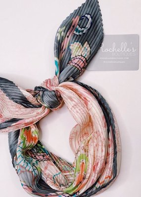 Look by M Paisley Floral Pleats Bandana