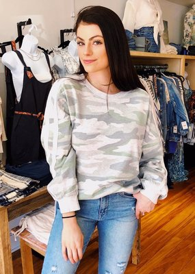 Vintage Havanna In The Army Now Camo Pullover