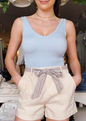 Hem & Thread Vegas Stripe Linen Shorts