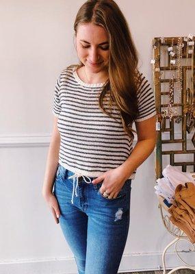 Sadie & Sage Centro Stripe Knit Top
