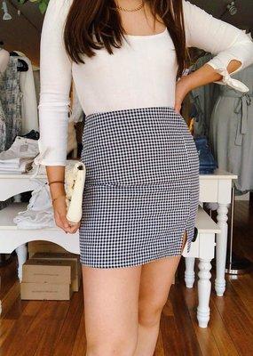 Sadie & Sage Truly Deeply Gingham Mini Skirt