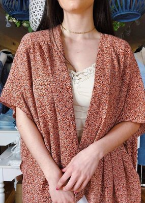 Look by M Sienna Shirred Shoulder Kimono