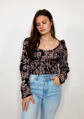 Free People Santiago Printed Blouse