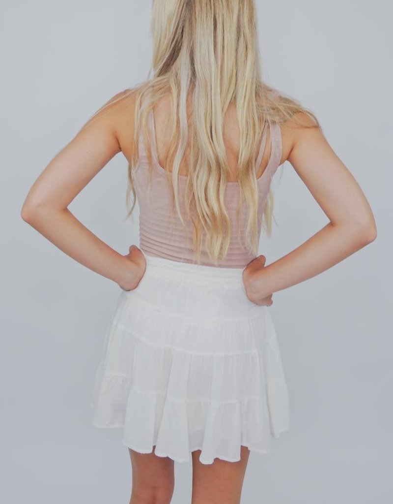 Cotton Candy Cut You Off Skirt