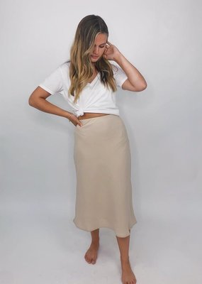 She + Sky Straight Up Midi Skirt