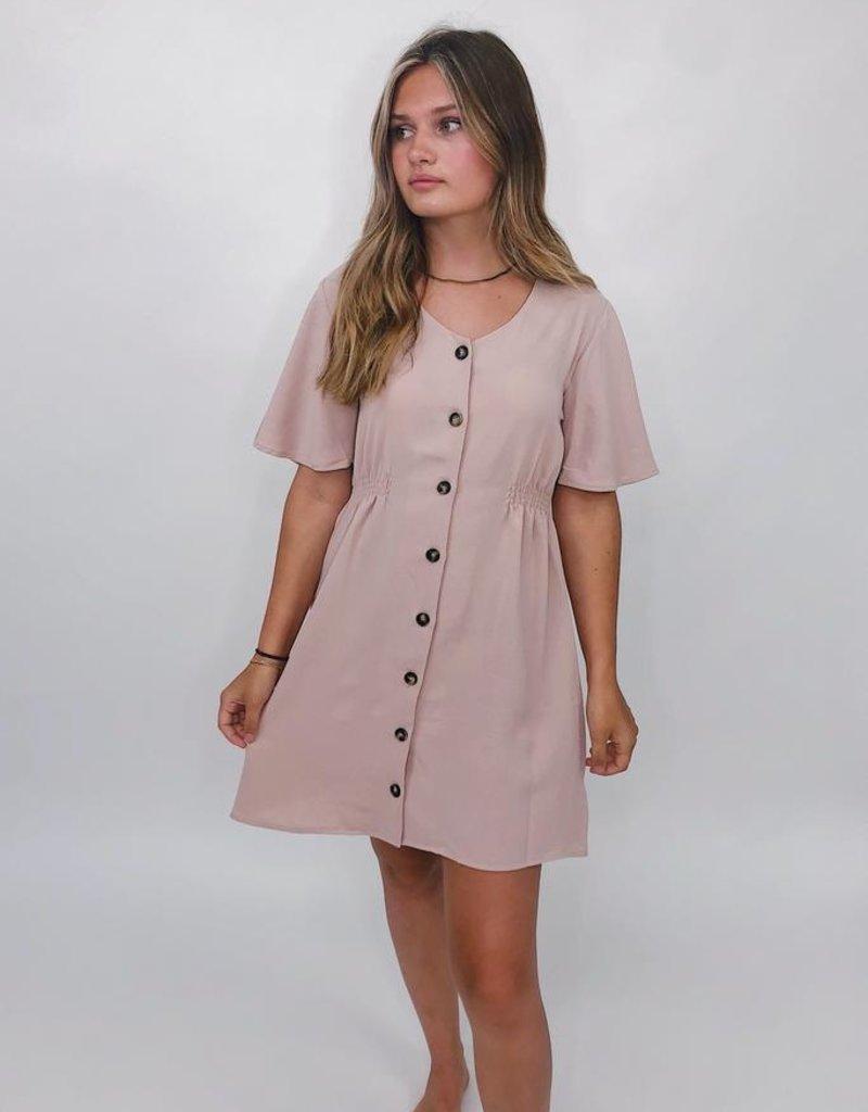 She + Sky Bae Bae Button Down Dress
