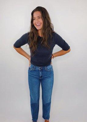 Just Black HR Cropped Frayed Bottom Jeans