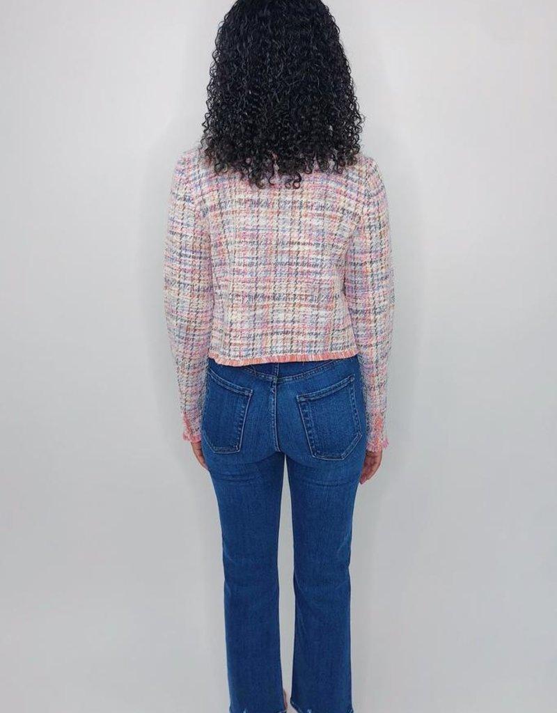BB Dakota Neon Belief Tweed Jacket