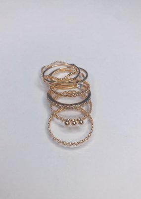 U.S. Jewelry House (New York Style) Stackable Ring Set