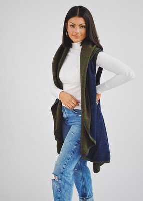 Look by M Two Tone Shawl Vest