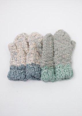 Look by M Two Tone Mango Yarn Mittens
