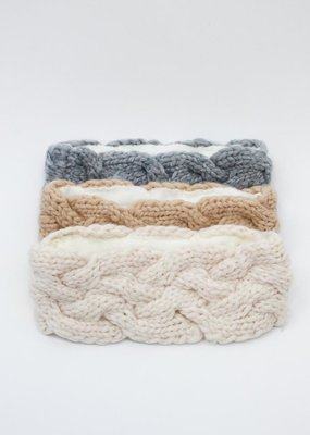 Look by M Ear Snuggle Cable Mango Yarn Headband