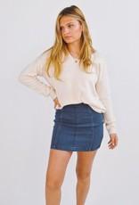 Free People Denim modern femme skirt