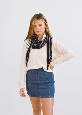 Look by M Tip It and Reverse It Stripe Reversible Shawl Scarf