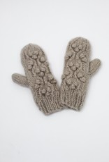 Look by M Little Snowball Cable Pompom Mittens
