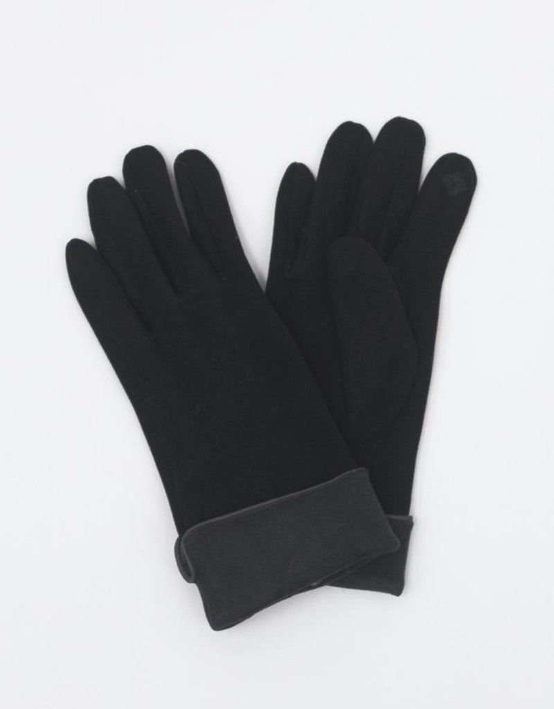 Look by M Two Tone Trimmed Gloves