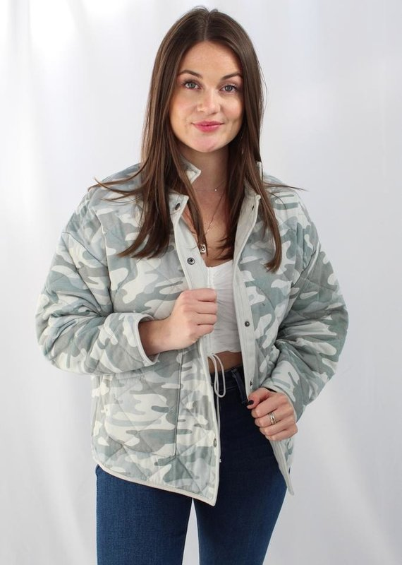 Z Supply Maya Camo Quilted Jacket